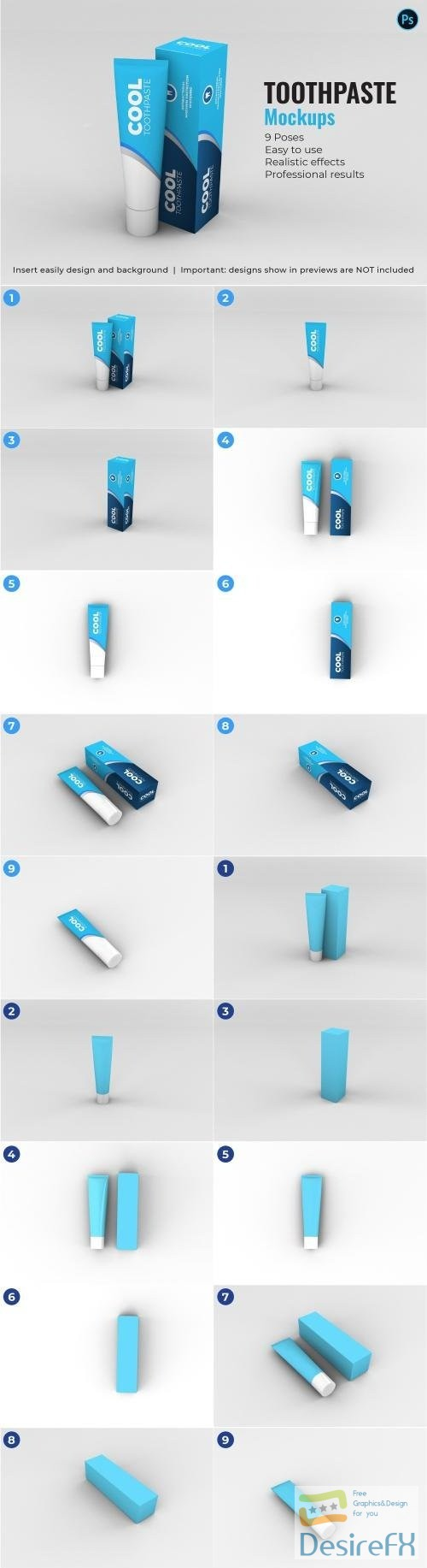 mock-up - Toothpaste Mockups - 9 Poses - 3340924