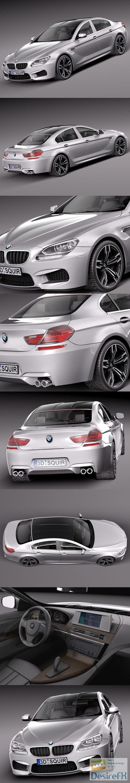 3d-models - BMW M6 Gran Coupe 2014 3D Model