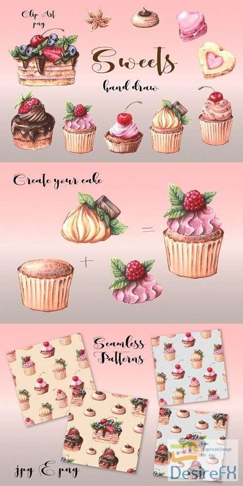 photoshop - Sweets clip art - 192099