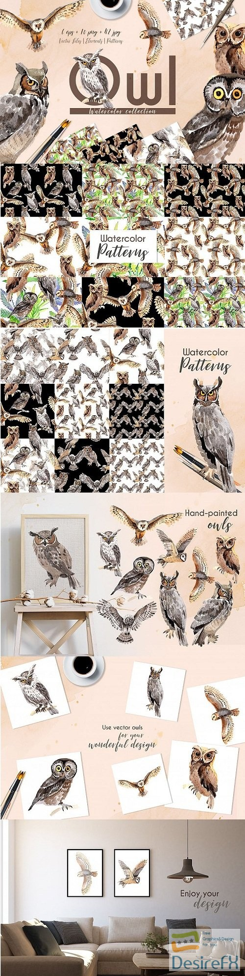 photoshop - Owl Watercolor png - 213376