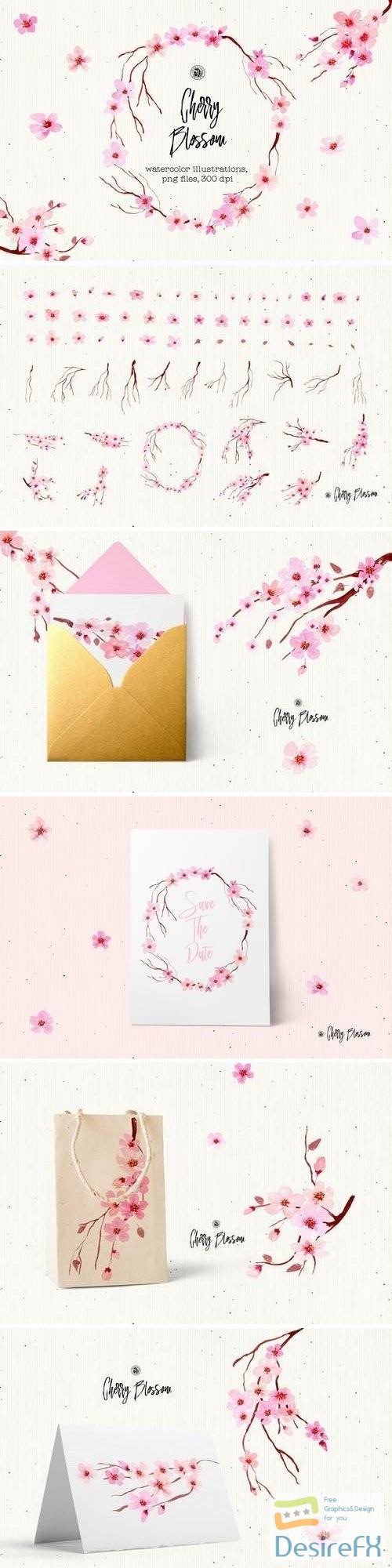 photoshop - Cherry Blossom Flowers - 3461867