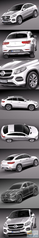 Mercedes-Benz GLE Coupe 2016 3D Model