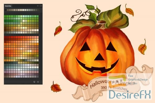 stock-images - Halloween Pumpkin PS and Ai Swatches - 2898070 - 2861563
