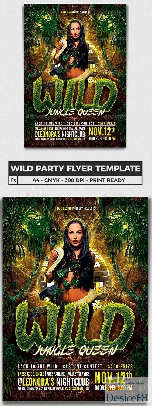 layered-psd - graphicriver - Wild Party Flyer Template 6382383 - 90145