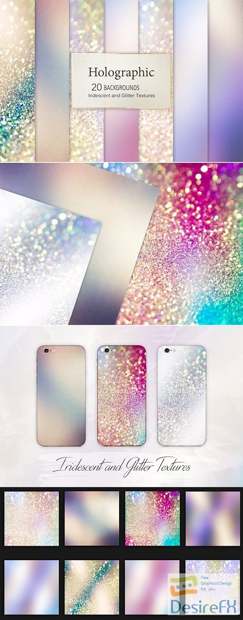 stock-images - Iridescent and Glitter Textures - 2690244