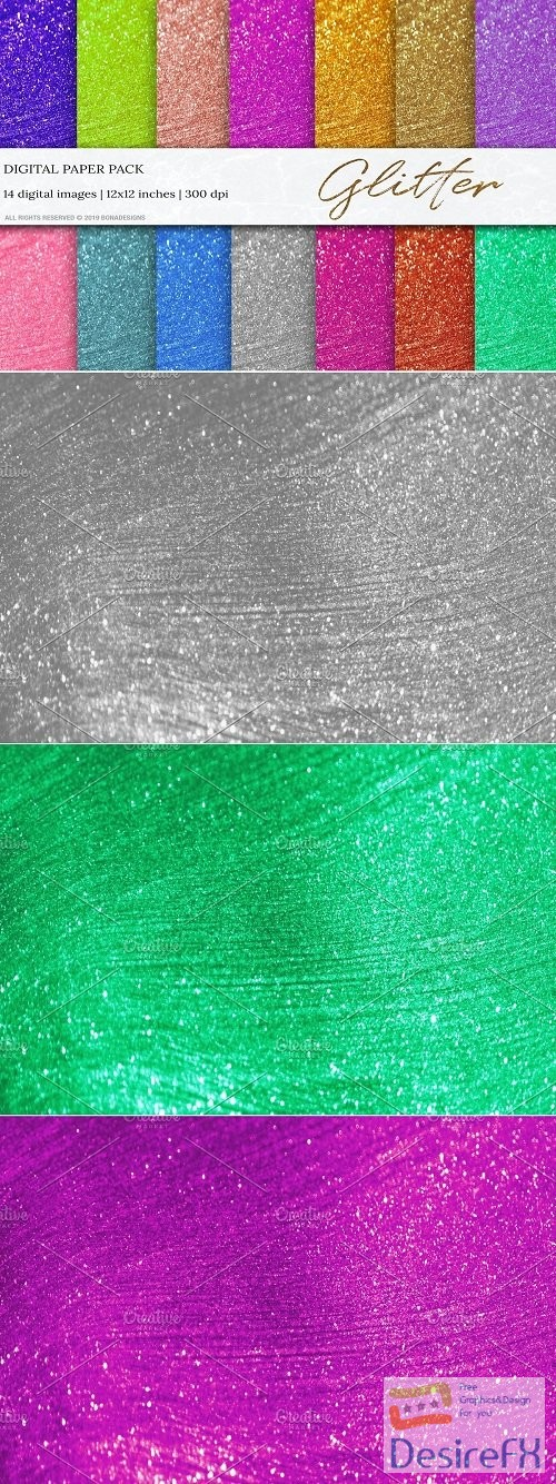 stock-images - Glitter Background, Digital Papers - 3557986