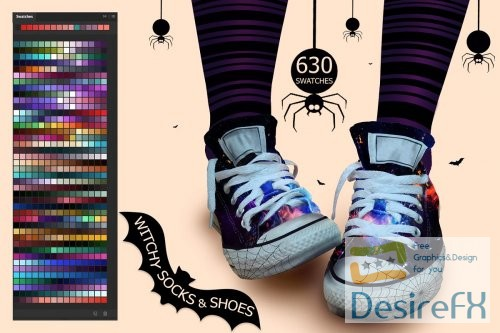 stock-vectors - Witchy Socks & Shoes PS and Ai Swatches - 2898168 - 2873705