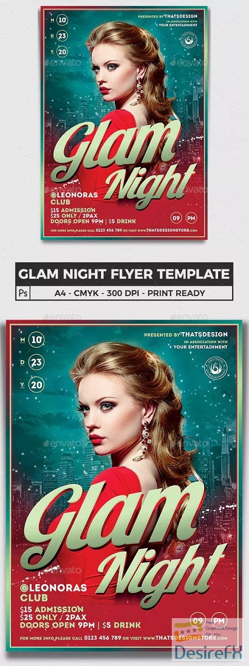 layered-psd - graphicriver - Glam Night Flyer Template 15696722 - 90026
