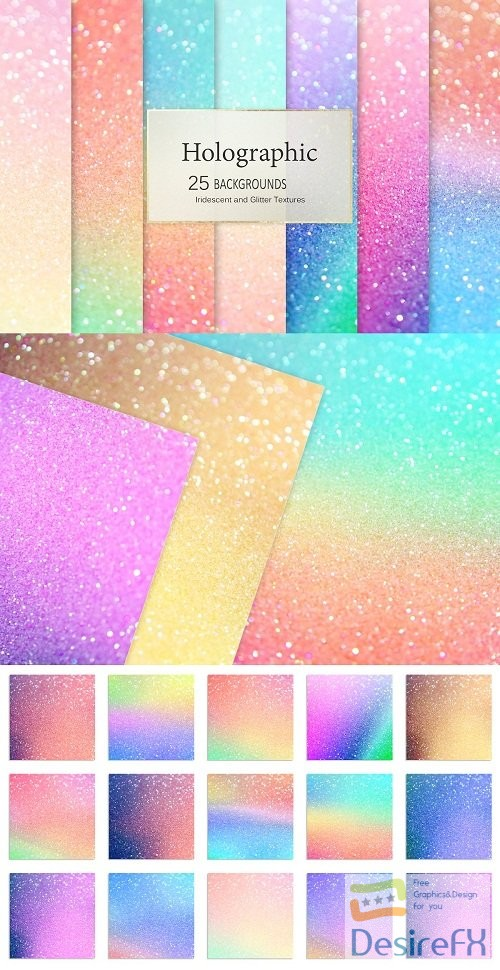 stock-images - Iridescent and Glitter Textures - 2687058