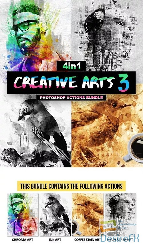 actions-atn - Creative Arts Photoshop Action Bundle V3 20998013
