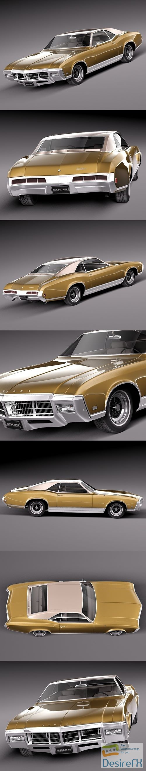 3d-models - Buick Riviera 1969 3D Model