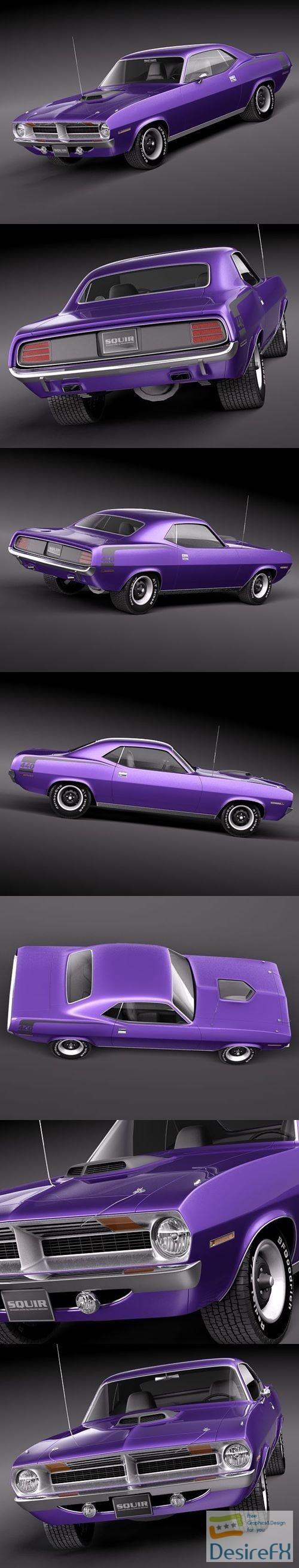 Desirefx com | Download Plymouth Hemi Cuda Barracuda 1971 3D Model