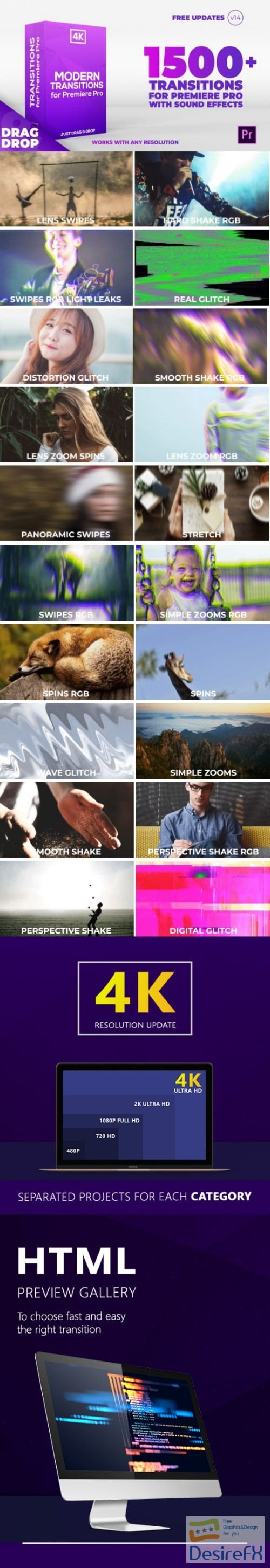 after-effects-projects - Videohive Modern Transitions | For Premiere PRO 21922312 - V14