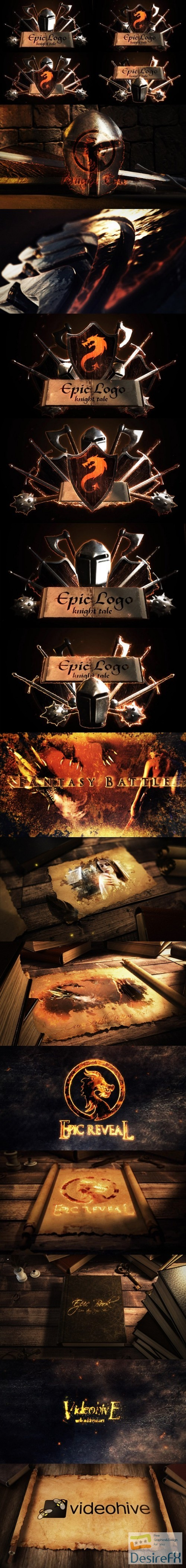 after-effects-projects - Videohive Epic Battle Modular Logo Reveals 23426318