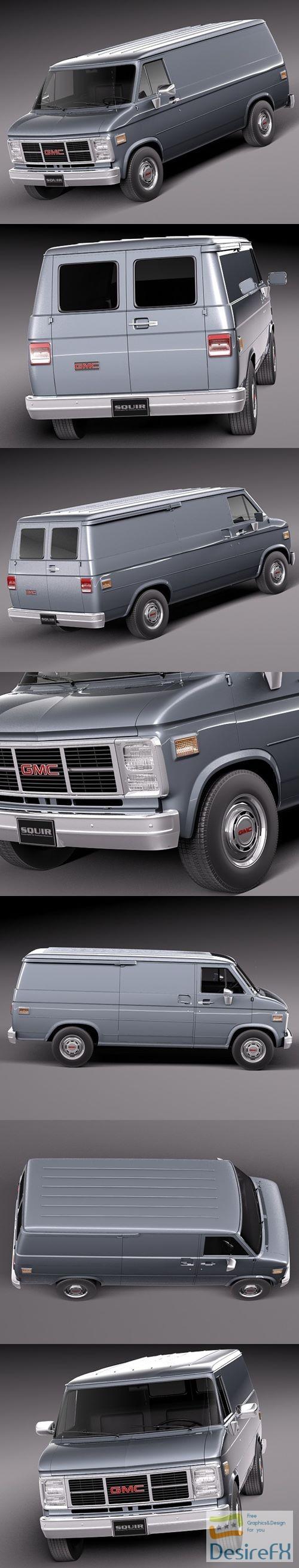 3d-models - GMC vandura 1983-1991 3D Model