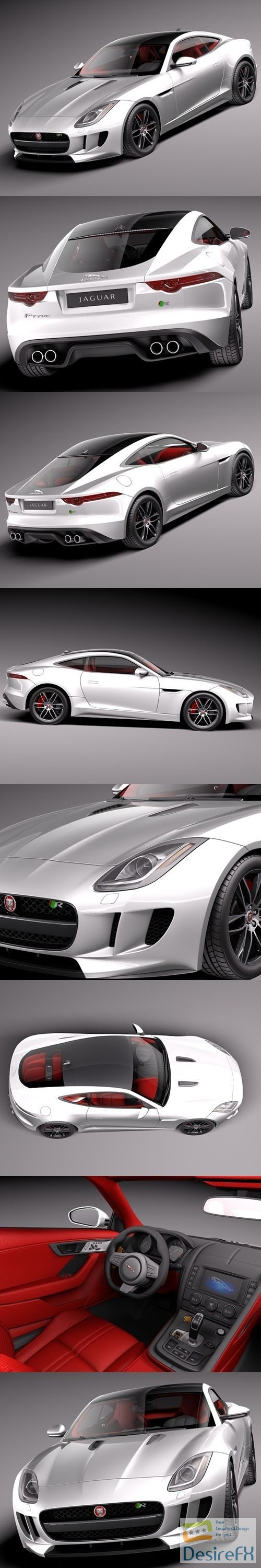 3d-models - Jaguar F-Type R Coupe 2015 3D Model