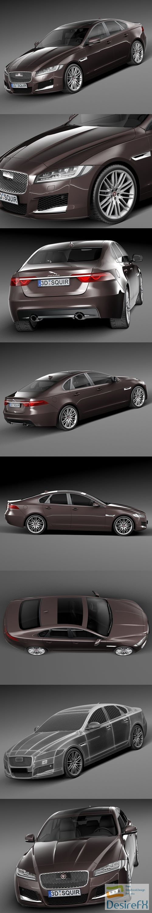 3d-models - Jaguar XF 2016 3D Model