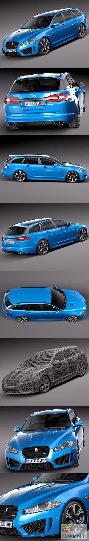 Jaguar XFR-S Sportbrake 2015 3D Model
