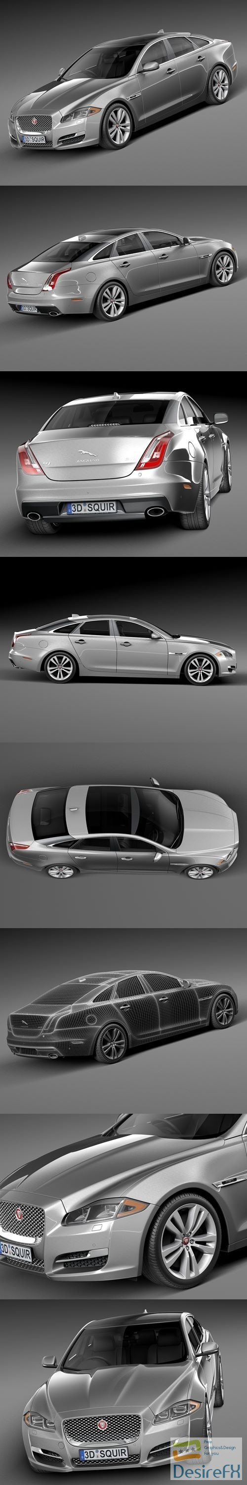 3d-models - Jaguar XJ 2016 3D Model