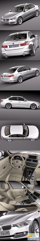 3d-models - BMW 3 f30 2013 sedan 3D Model