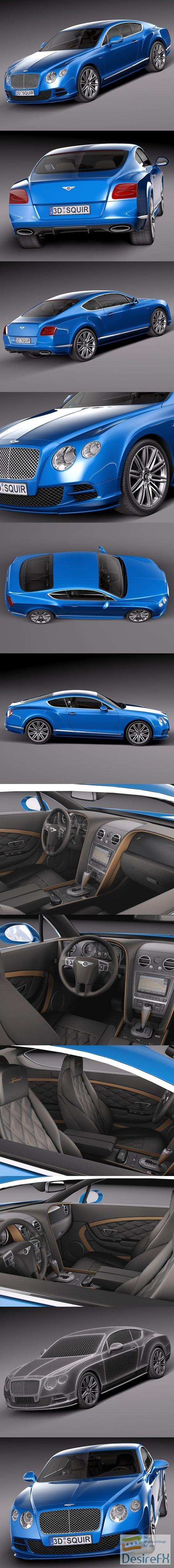 3d-models - Bentley Continental GT Speed 2015 3D Model