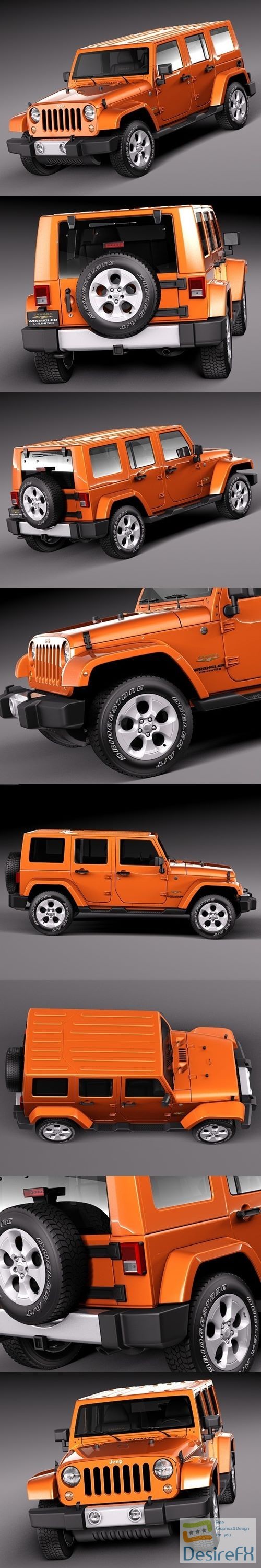 3d-models - Jeep Wrangler Unlimited Sahara 2013 3D Model