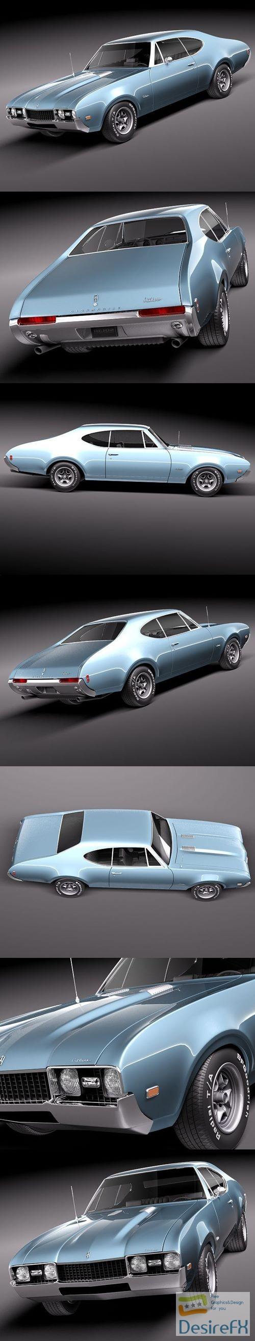 3d-models - Oldsmobile 442 Cutlass 1968 3D Model