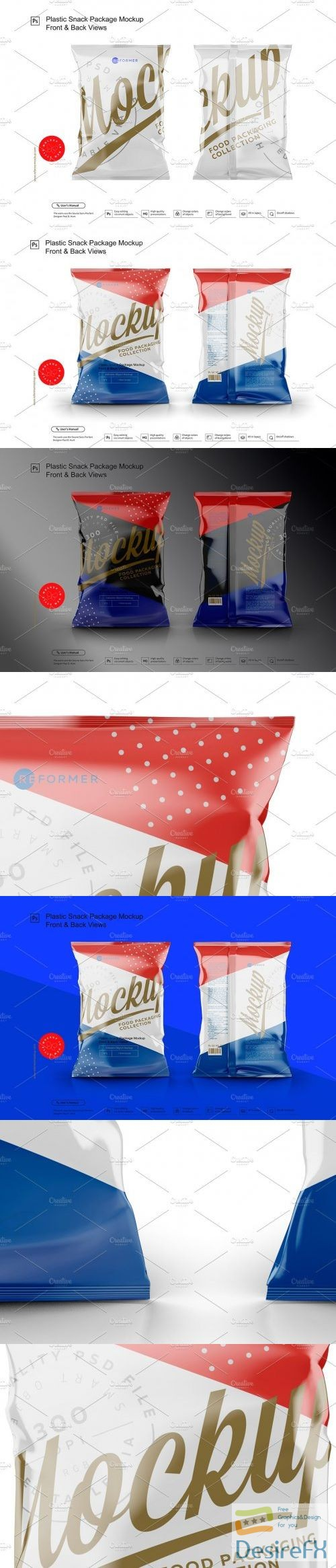 mock-up - CreativeMarket - Plastic Snack Package Mockup F&B 3680226