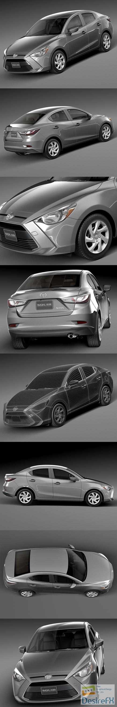 3d-models - Toyota Yaris sedan 2016 3D Model