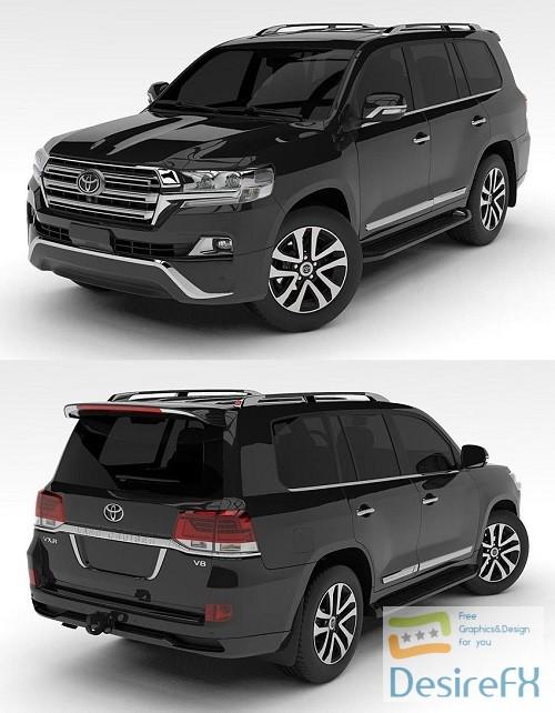 3d-models - Toyota Land-Cruiser 200 VXR 2016 3D Model