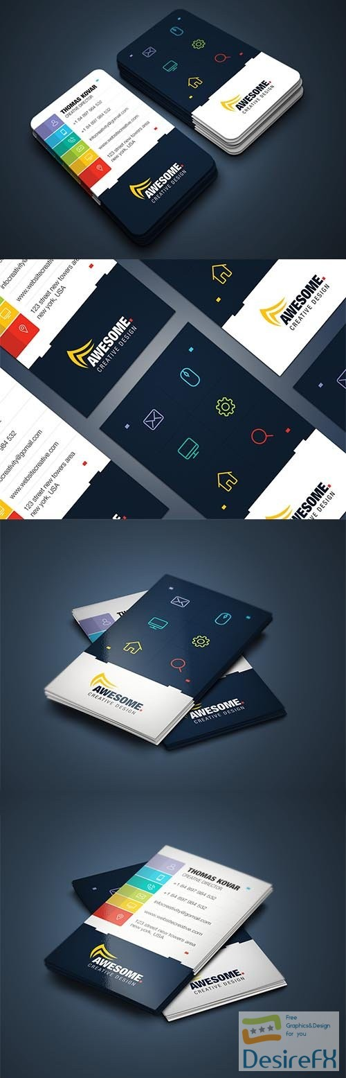 CreativeMarket - Creative Business Card 3668540