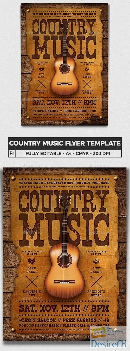 Country Music Flyer Template - 23803168 - 3767700