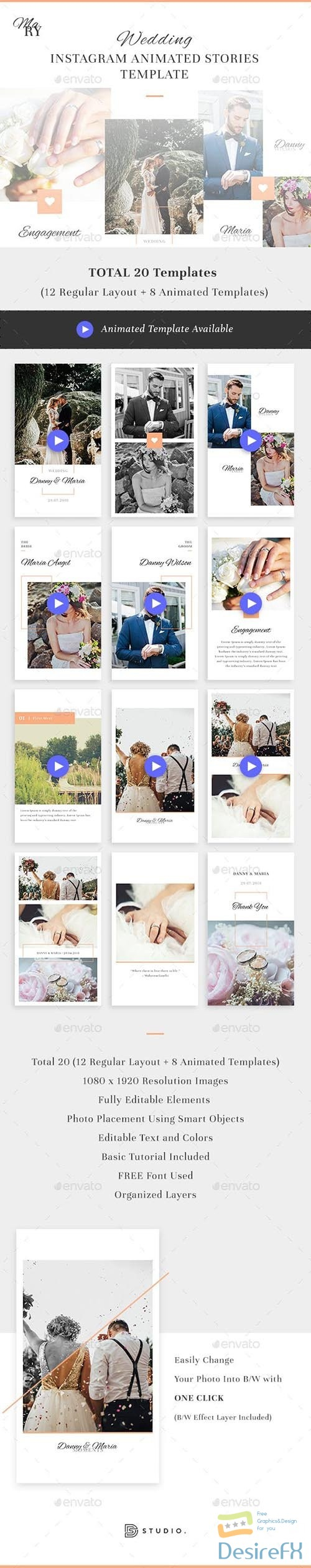 GraphicRiver - Mary - Wedding Instagram Animated Stories 23686815
