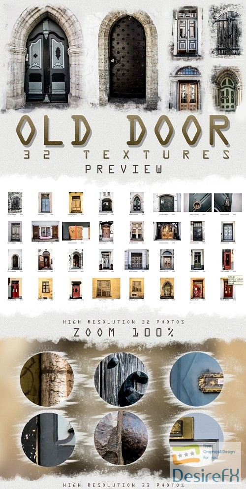 stock-images - 33 OLD and URBAN DOOR photo textures overlays pack Middle 257495