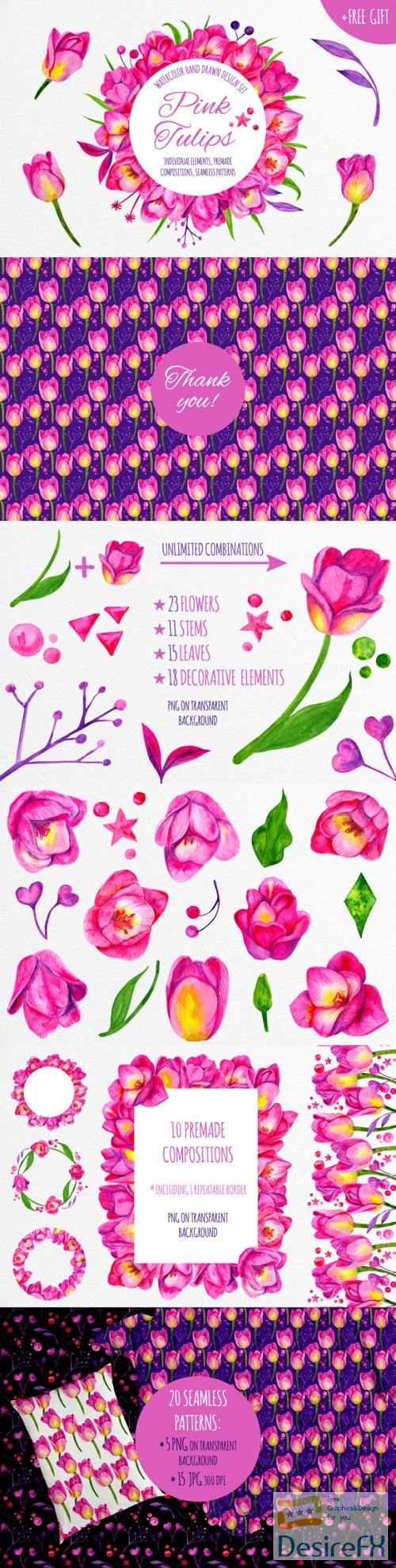 stock-images - Pink Tulips