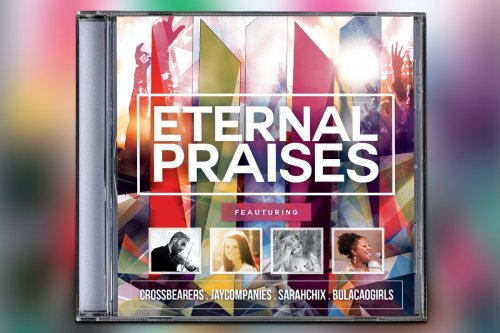CreativeMarket - Eternal Praises CD Album Artwork 3168768