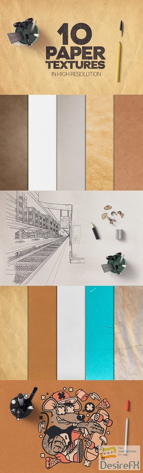 stock-images - Paper Textures x10 - 3775151
