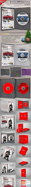 mock-up - Realistic DVD/CD Case Mockup  23803155