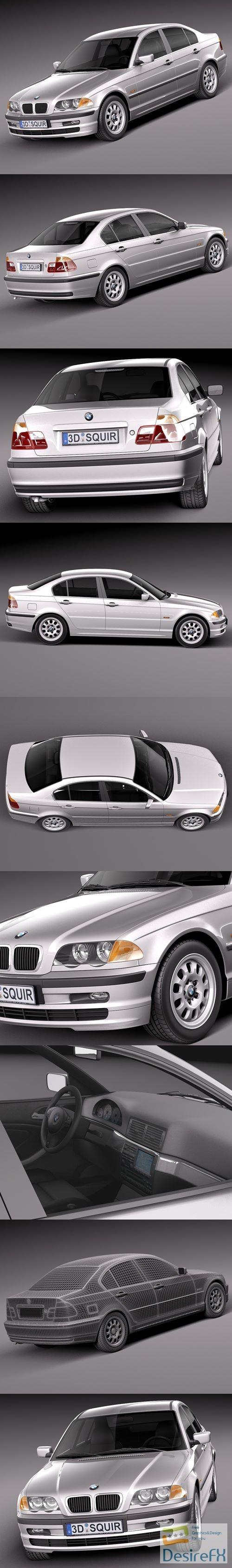 BMW 3-series e46 1998-2001 sedan 3D Model