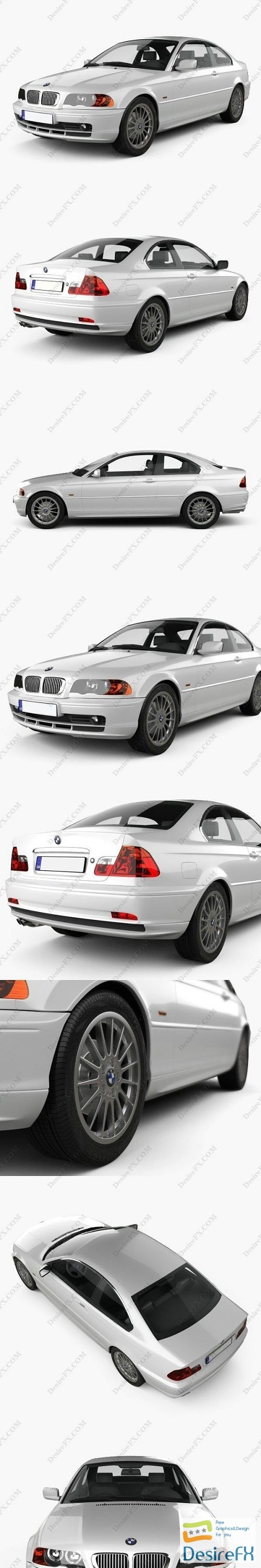 3d-models - BMW 3 Series coupe E46 2004 3D Model
