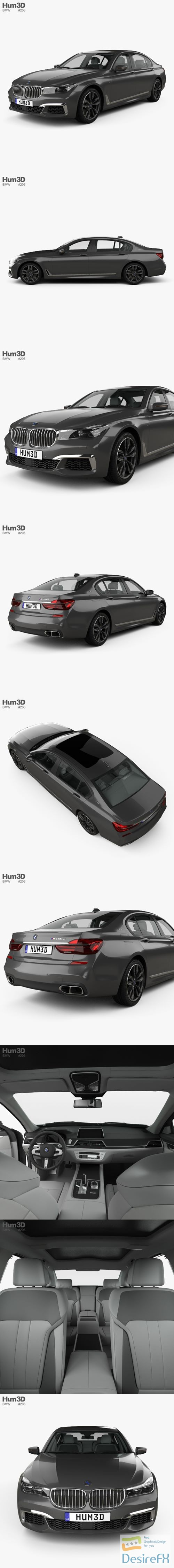 3d-models - BMW M7 (G12) with HQ interior 2017 3D Model