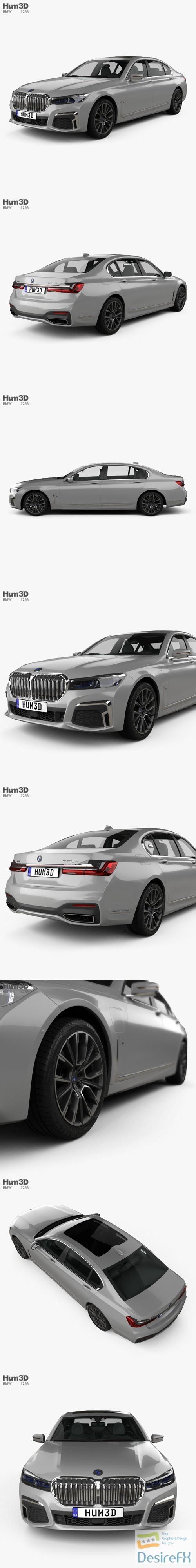 3d-models - BMW 7 Series Le 2020 3D Model