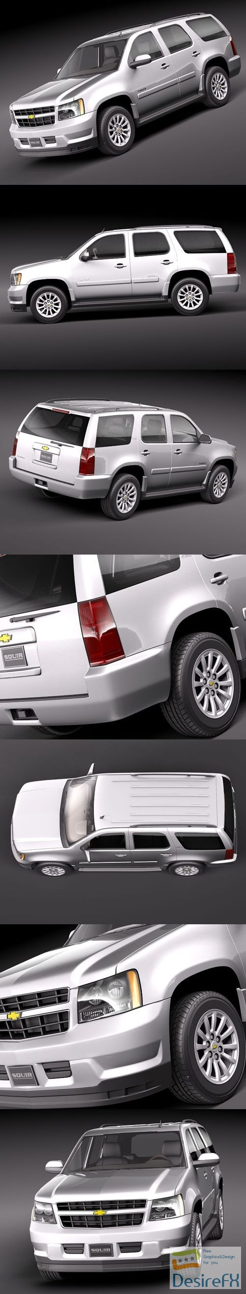 Chevrolet Tahoe Hybrid 2010 3D Model