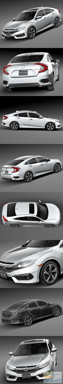 3d-models - Honda Civic Sedan EX 2016 3D Model