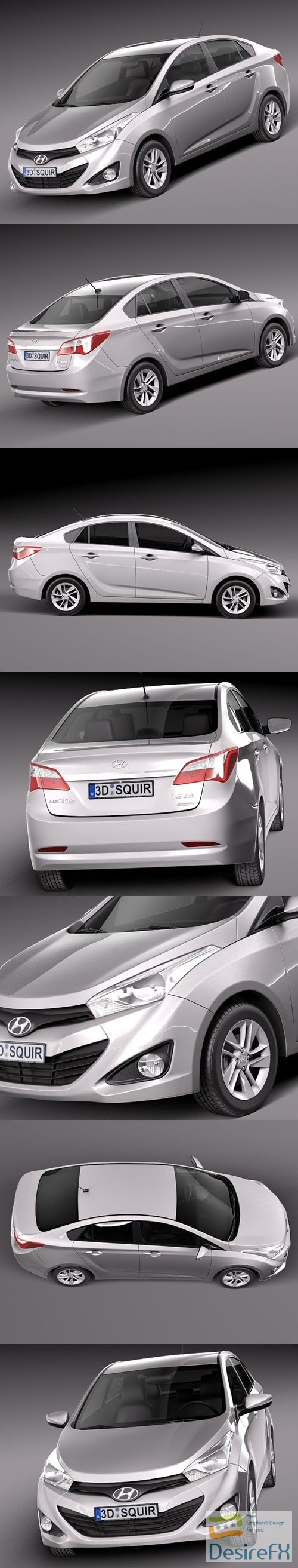 3d-models - Hyundai HB20S 2013 3D Model