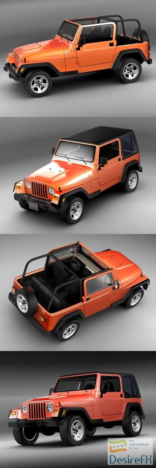 3d-models - Jeep Wrangler 2004 3D Model