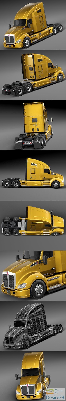 3d-models - Kenworth T680 2015 Semi Truck 3D Model