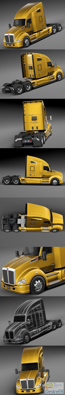 Kenworth T680 2015 Semi Truck 3D Model