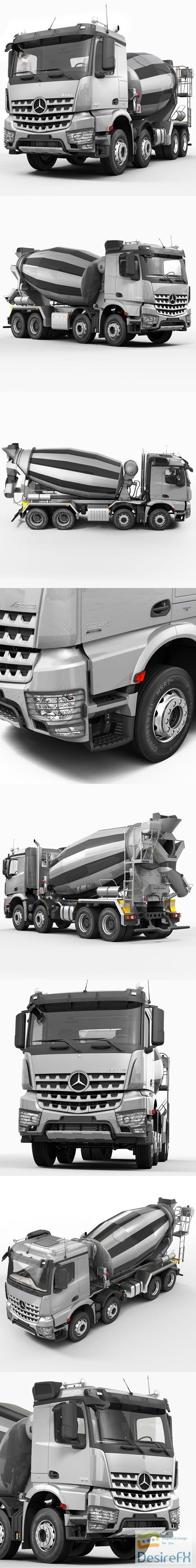 Mercedes Arocs Mixer 3D Model
