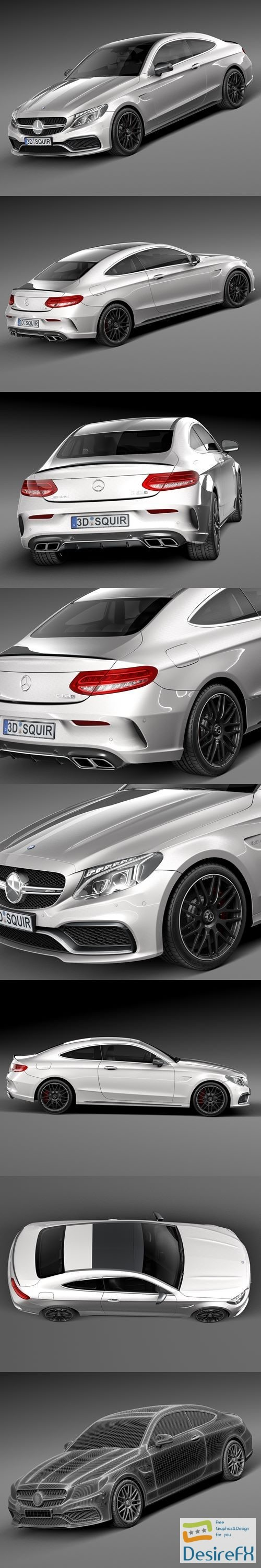 3d-models - Mercedes-Benz C63 AMG Coupe 2017 3D Model